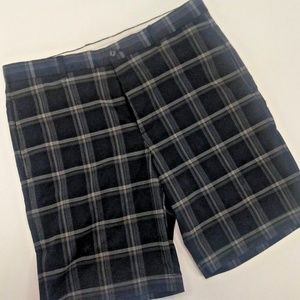 01aedb53a Greg Norman Collection Shorts - Greg Norman Hybrid Byron Plaid Short Size  34 Black